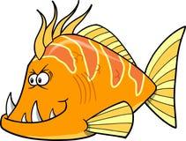 Vector anaranjado de los pescados Imagen de archivo