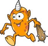 Vector anaranjado lindo del monstruo Foto de archivo
