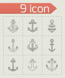 Vector Anchor icon set Royalty Free Stock Images