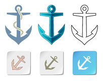 Vector anchor icons Stock Photos