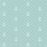 Vector anchors seamless pattern Stock Images