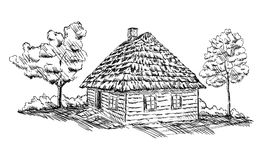 Ancient wooden house Stock Image