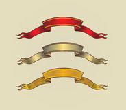 Vector Ancient Scroll Ribbon Stock Images