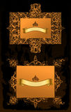 Vector ancient set. Gold decorative frames. Illustration stock illustration