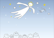 Vector angel Royalty Free Stock Images