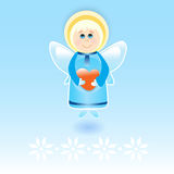 Vector angel with heart Stock Photo