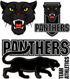 Vector angry black panther sport emblem Stock Photo