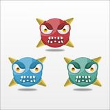 Vector Angry Emoticon bullet design illustration Royalty Free Stock Image