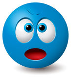 Vector: Angry face. Vector: Angry blue face (CMYK colors used Vector Illustration
