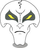 Vector angry face, skull Royalty Free Stock Photos