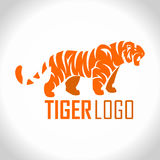Vector angry tiger mascot logo Royalty Free Stock Image