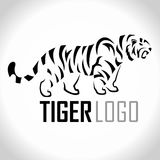 Vector angry tiger mascot logo Stock Images