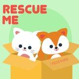 Vector animal Art Logo del ejemplo del rescate Imagenes de archivo