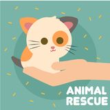 Vector animal Art Logo del ejemplo del rescate Foto de archivo