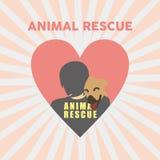 Vector animal Art Logo del ejemplo del rescate Foto de archivo libre de regalías