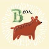 Vector Animal Cute Bear. Royalty Free Stock Photos