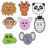 Vector animal faces Royalty Free Stock Photography