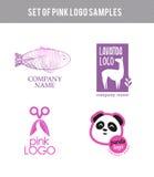 Vector animal flat logo set. Stock Photo
