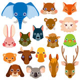 Vector animal head icons Stock Photos