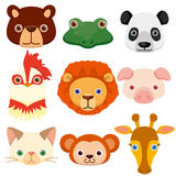 Vector animal head icons vector illustration