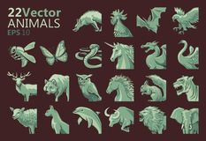 Vector animal icons. A series of vector illustrations of different animal icons vector illustration