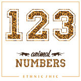 Vector animal numbers for t-shirts, posters, card and other uses. Royalty Free Stock Photos