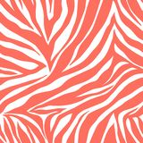 Vector animal print. Zebra ornament. Seamless pattern. Style background vector illustration
