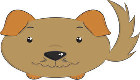 Vector animals, dog. Illustration of cute isolated brown dog Royalty Free Stock Images
