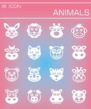 Vector Animals icon set Royalty Free Stock Photography