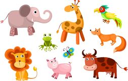 Vector animals set Stock Photos