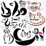 Vector animals set Stock Photo