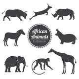 Vector animals set Royalty Free Stock Image