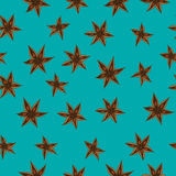 Vector anise pattern Royalty Free Stock Photos