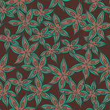 Vector anise pattern Royalty Free Stock Photo