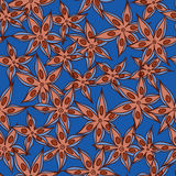 Vector anise pattern Stock Image