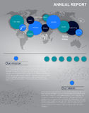 Vector annal report or infographics Stock Image