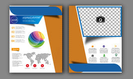 Vector Annual Report,Book Cover Layout ,Leaflet Brochure,Flyer Template,A4 Size Stock Photography