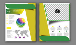 Vector Annual Report,Book Cover Layout ,Leaflet Brochure,Flyer Template,A4 Size Royalty Free Stock Photography