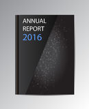 Vector annual report 2016. Book  over background Royalty Free Stock Images
