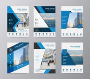 Vector annual report brochure flyer design template. Blue annual report brochure flyer design template vector, Set of leaflet cover presentation abstract flat