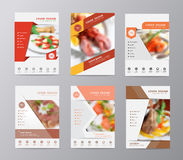 Vector annual report brochure flyer food blurred background Royalty Free Stock Photo
