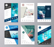 Vector annual report brochure flyer operating room background Stock Image