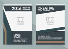 Vector annual report design templates. Business brochure, flyer and cover design layout template Stock Images