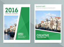 Vector annual report design templates. Business brochure, flyer and cover design layout template Stock Image