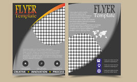Vector annual report Leaflet Brochure Flyer template design, book cover layout design, Abstract templates set Royalty Free Stock Photography