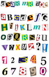 Vector Anonymous Alphabet Royalty Free Stock Photos
