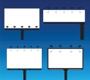 Vector Anschlagtafeln Lizenzfreies Stockbild