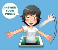 Answer your phone. stock illustration