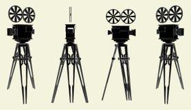 Vector antiguo 01 de la cámara del soporte de la película Fotografía de archivo libre de regalías