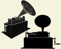 Vector antiguo 01 del gramófono de Edison stock de ilustración